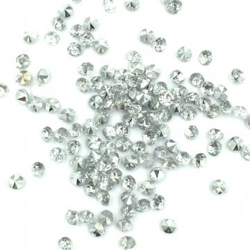 Resin sparkling crystal chatons - 2.5mm - silver /  clear